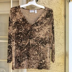 Chico's size 2 brown/tan blouse